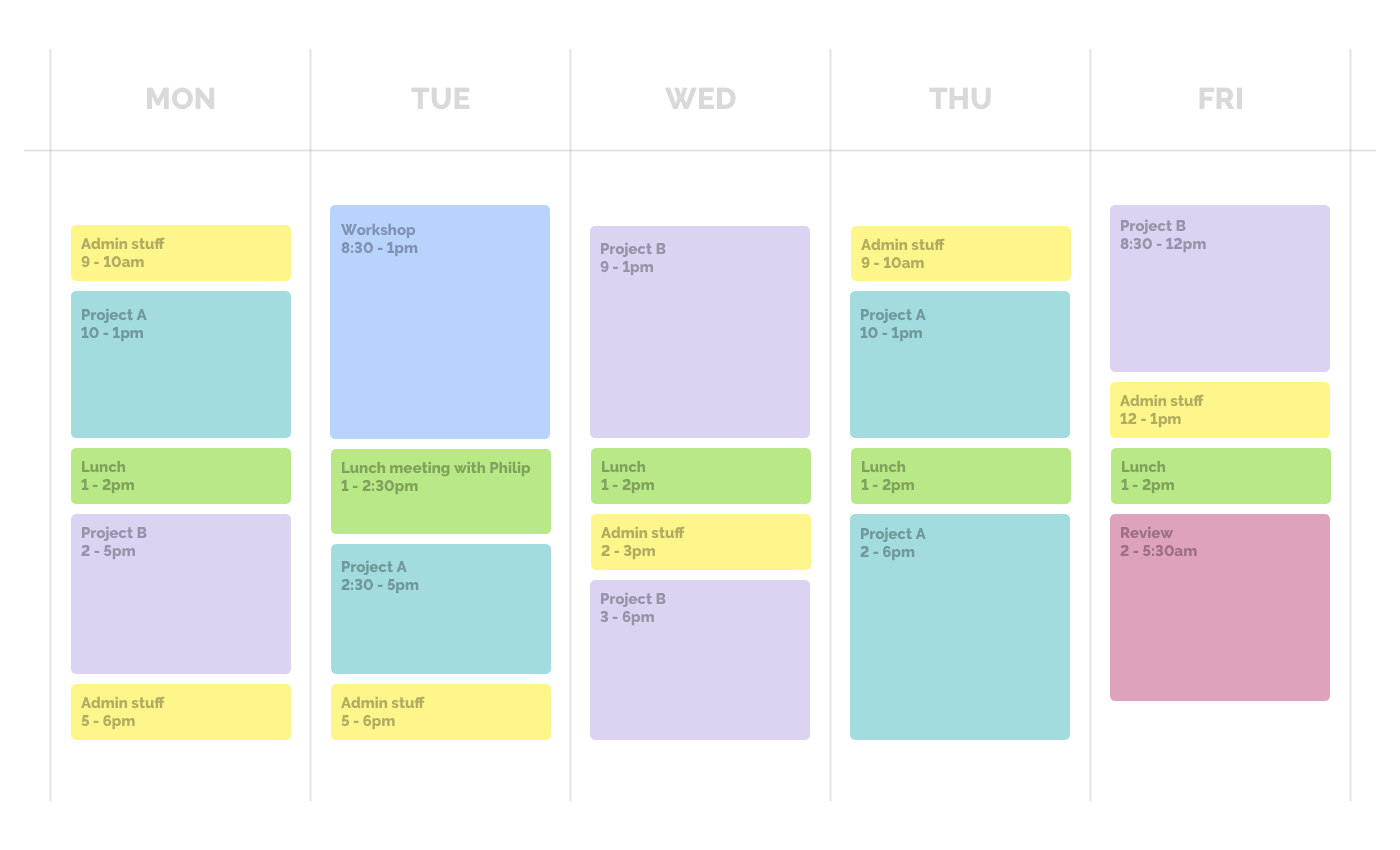 Noisli - Productivity system - Time blocking - Calendar